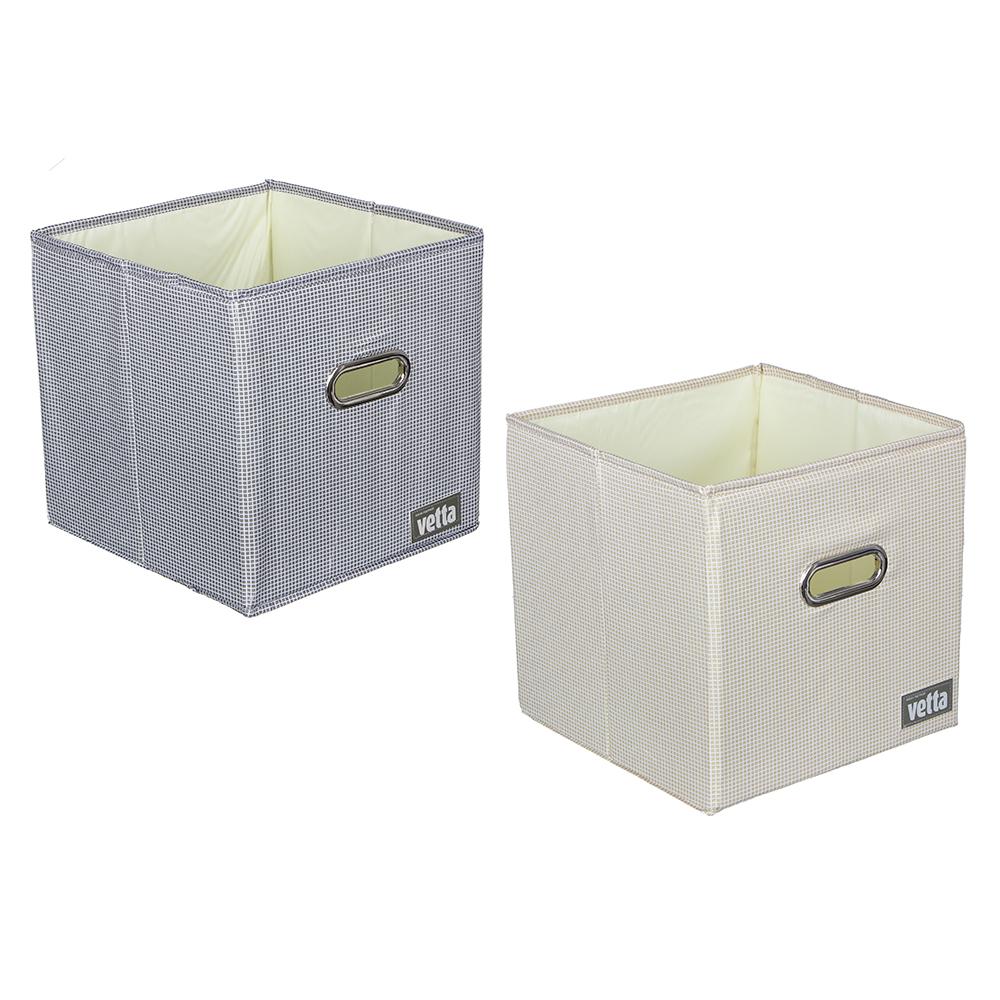 VETTA Короб для хранения Клетка, полиэстер, 27х27х27см, 2 цвета
