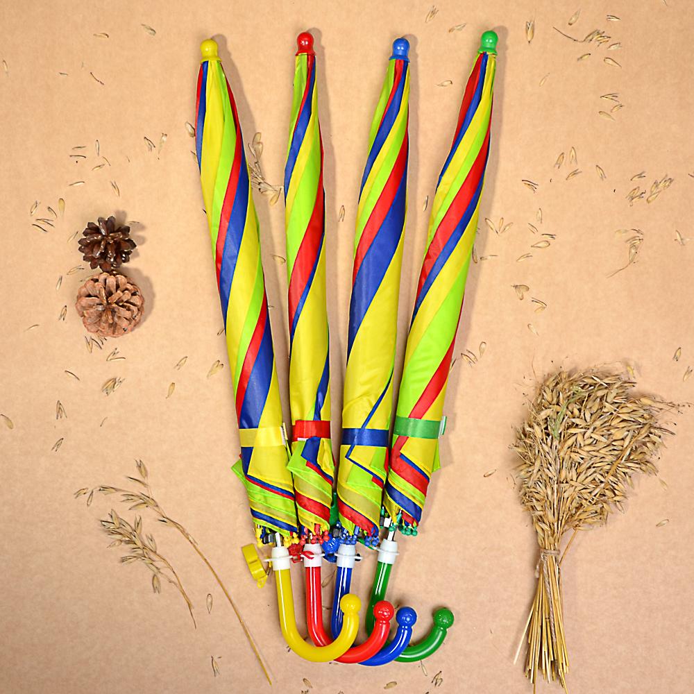 Зонт-трость детский, полиэстер, 43см, 8 спиц, 3 цвета, 10598-2