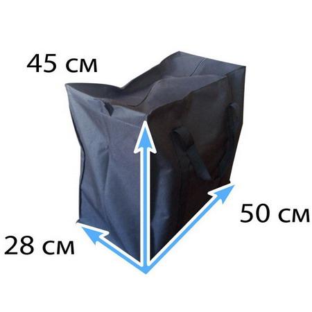 Сумка черная тканевая №Ч2  L