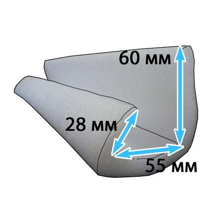 Защитный профиль для перевозки мебели 55*60/28