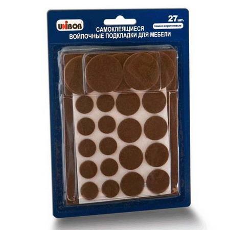 Самоклеящиеся подкладки для мебели, светло-коричневый, 27 шт/упак