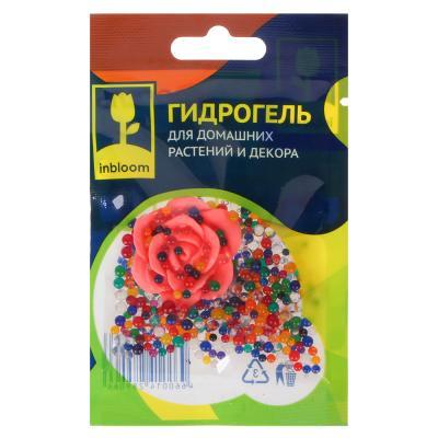 INBLOOM Гидрогель для домашних растений и декора Шарики с декоративным цветком,полимерный материал
