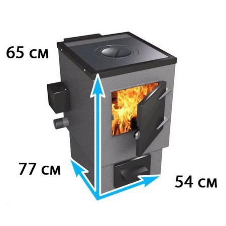 Отопительный котел с конфоркой на площадь до 150 м*2 АОТВК-2-25-6