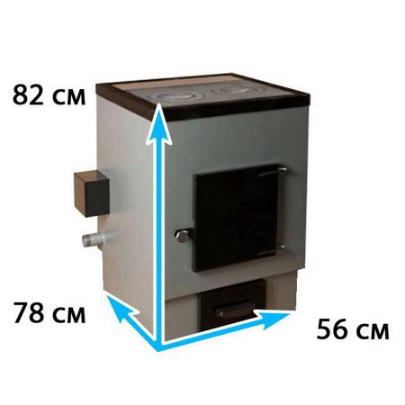 Отопительный котел с конфоркой на площадь до 220 м*2 АОТВК -31,5-6