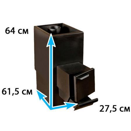Каменка для бани прямоугольная на помещение 6-9 м*3