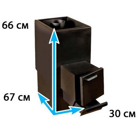Каменка для бани прямоугольная на помещение 9-12 м*3