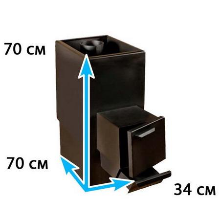 Каменка для бани прямоугольная на помещение 15-18 м*3