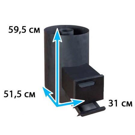 Каменка для бани овальная на помещение 6-9 м*3