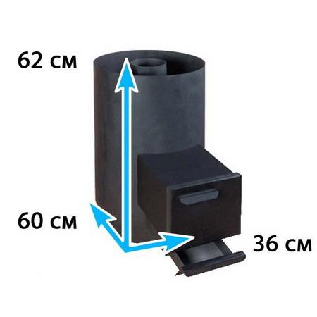 Каменка для бани овальная на помещение 9-12 м*3