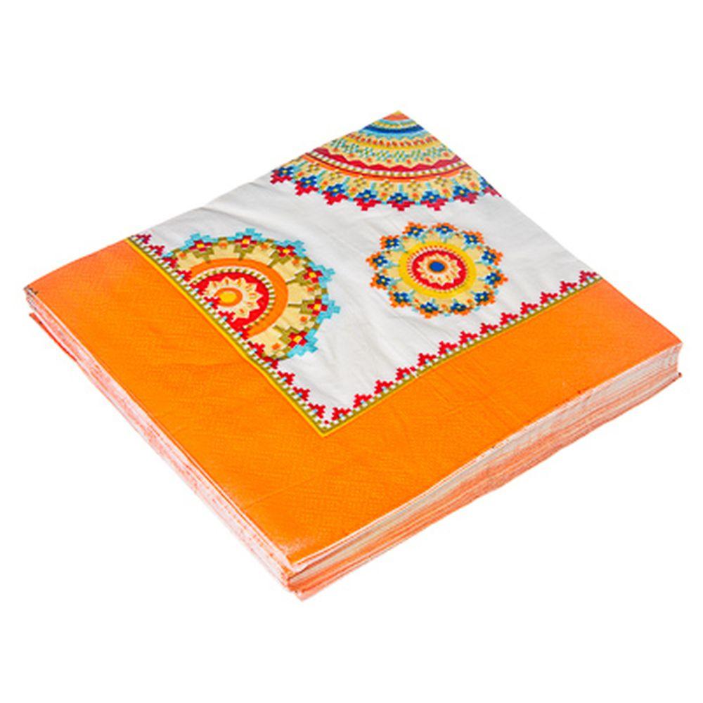 Салфетки бумажные 20шт, двухслойные, 33x33см Танжер