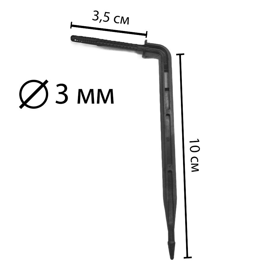 Капельница-стрелка с лабиринтом 3/5 мм