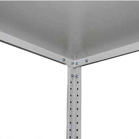Стеллаж (2500х700х400) 120 кг 5 полок металл ЛАЙТ-25745