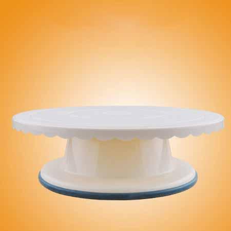 Крутящаяся подставка для торта из пластика 28 см