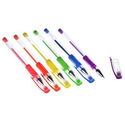 ClipStudio Набор ручек гелевых 6 цветов флуоресцентных, 0,7мм, в ПВХ пенале с подвесом