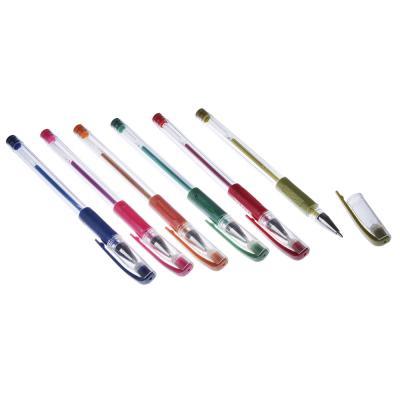 ClipStudio Набор ручек гелевых 6 цветов металлик, 0,7мм, в ПВХ пенале с подвесом
