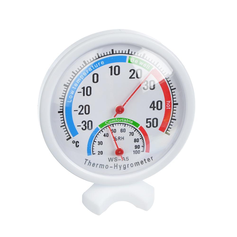 INBLOOM Термометр мини на подставке, измерение влажности воздуха, круглый, блистер, 8см, пластик