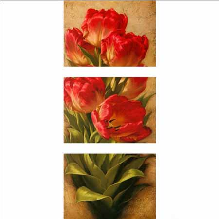 Набор алмазной вышивки из 3-х картин Тюльпаны