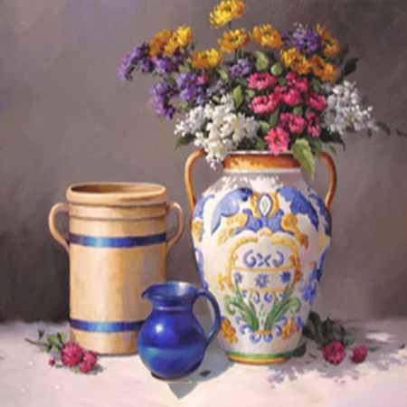Алмазная вышивка (мозаика) Ваза с цветами