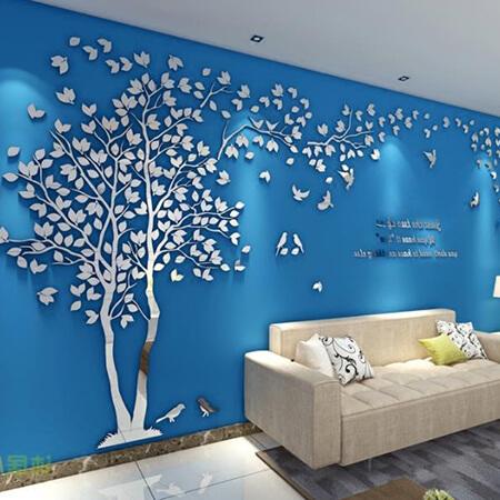 3D дерево 2 * 1 серебро