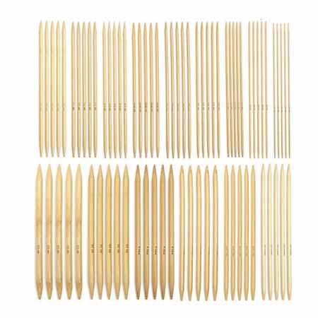 Спицы для вязания из бамбука 5-ти комплектные 15 комплектов