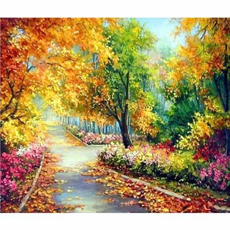 Алмазная вышивка (живопись) Осенний парк