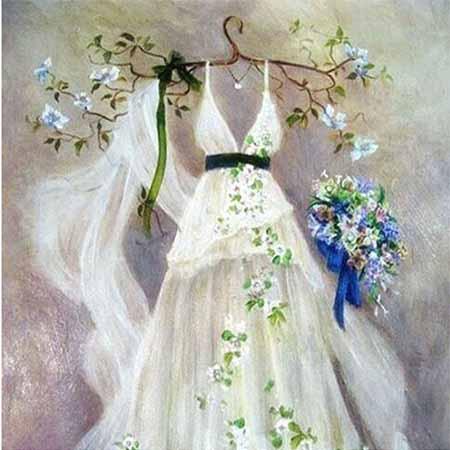 Алмазная вышивка Платье