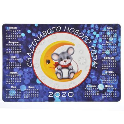 СНОУ БУМ Календарь-магнит на холодильник с Символом Года, 15х10 см, бумага, винил, 12 дизайнов ГЦ