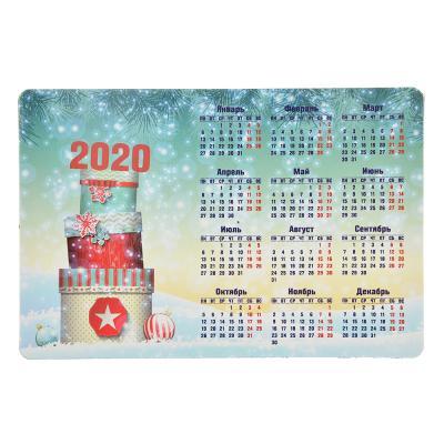 СНОУ БУМ Календарь-магнит на холодильник Новогодний, 15х10 см, бумага, винил, 12 дизайнов ГЦ