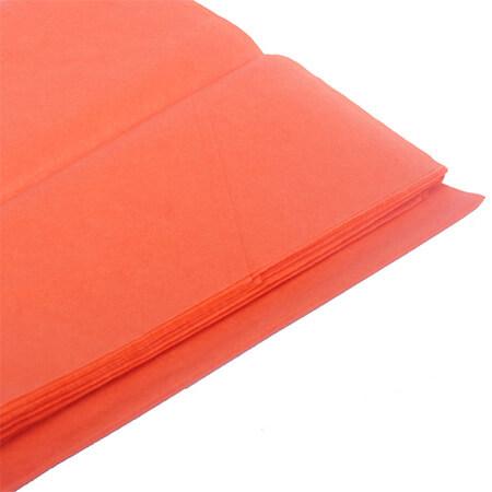 Бумага тишью, оранжевая, 50*76 см