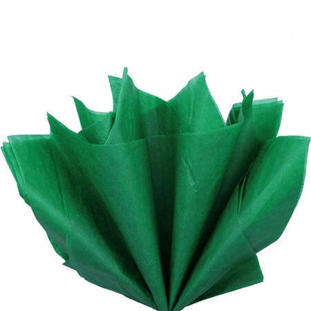 Бумага тишью, зеленая, 50*76 см