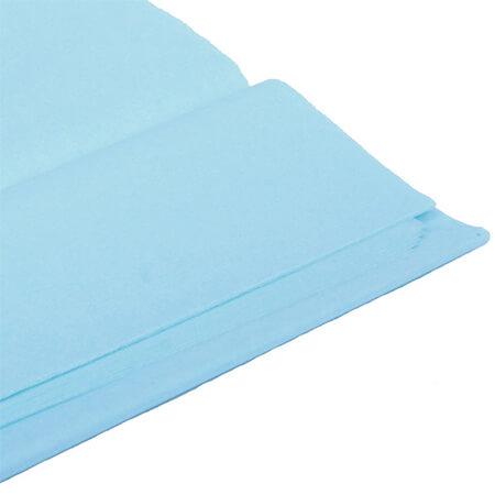 Бумага тишью, голубая, 50*76 см