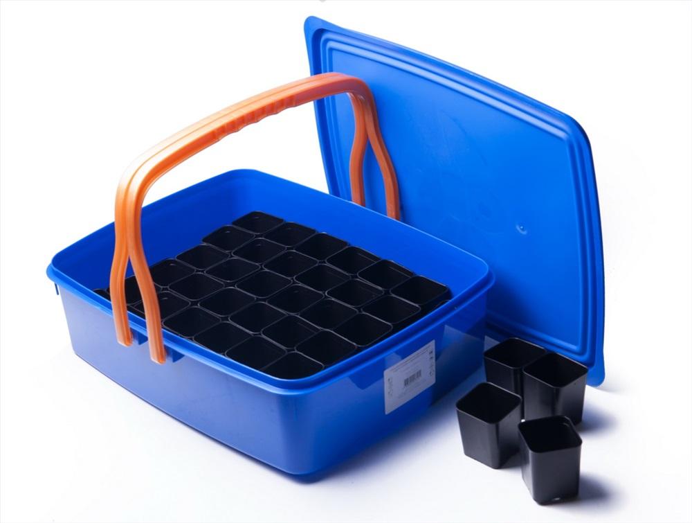 Набор для выращивания рассады: 42 стаканчика, контейнер с крышкой