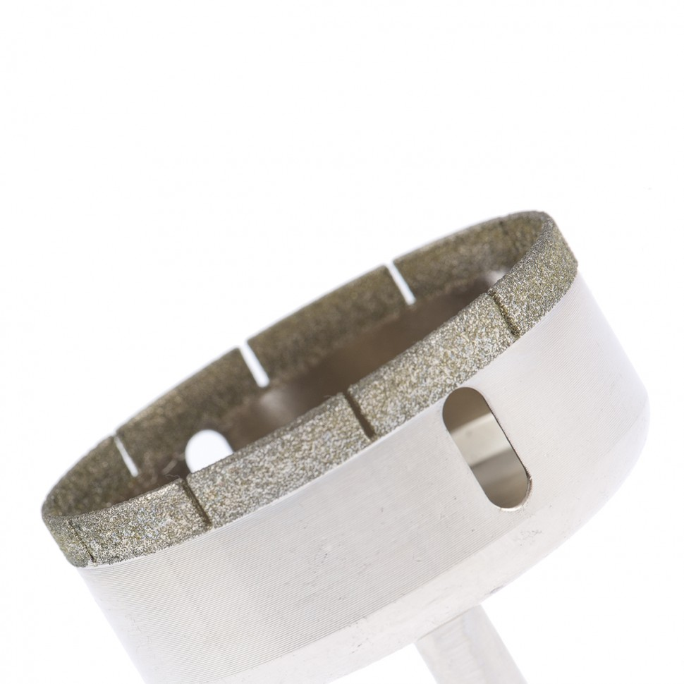 Сверло по стеклу и керамической плитке, 70 х 55 мм, цилиндрический хвостовик Сибртех