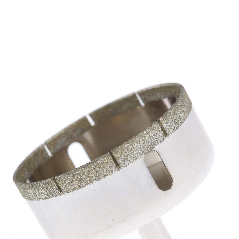Сверло по стеклу и керамической плитке, 68 х 55 мм, цилиндрический хвостовик Сибртех