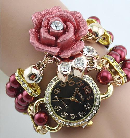 Часы кварцевые цветок  арт 3