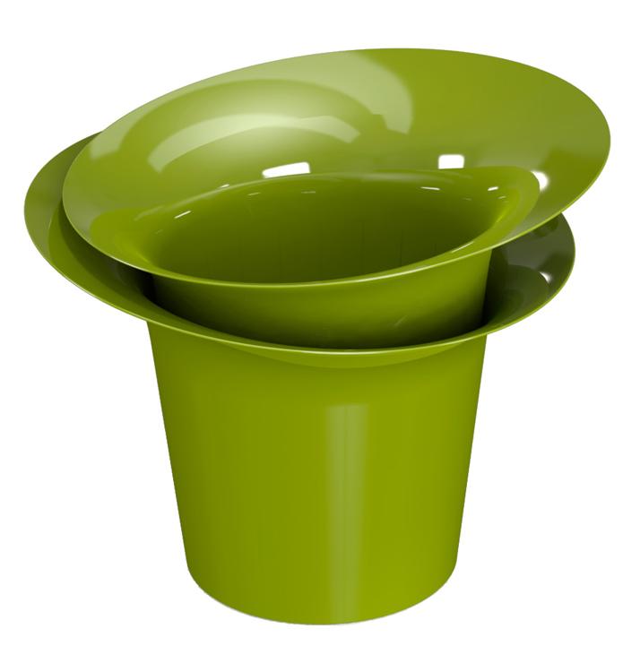 Горшок для цветов 2,5 л ″Модерн″ оливковый