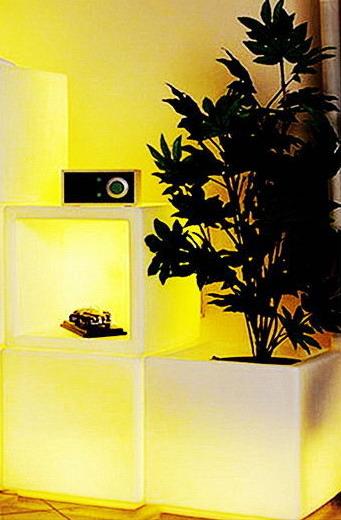 Светильник- Табурет led куб разноцветный
