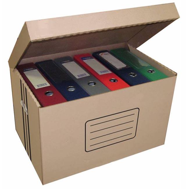 Короб архивный откидная крышка Бюрократ AC-18 микрогофрокартон 480x325x295мм коричневый (10 шт./кор.)