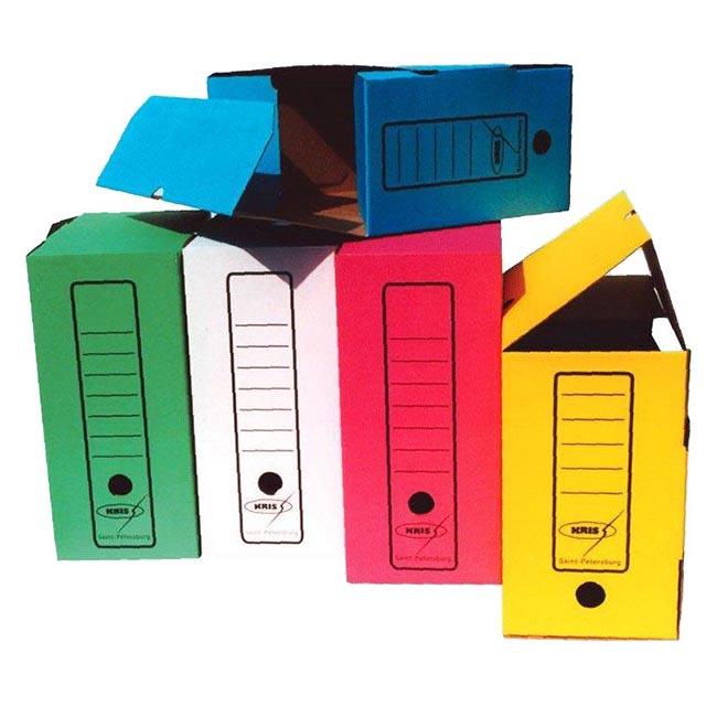 Короб архивный Бюрократ KKA-150 микрогофрокартон корешок 150мм A4 260x320x150мм ассорти