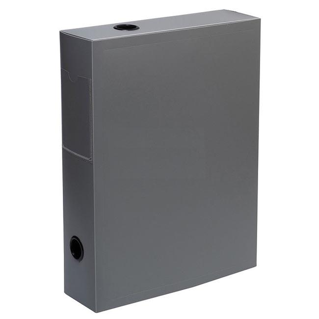 Папка архивная на кнопке Silwerhof Basic 255079-11 0.8мм корешок 70мм серый