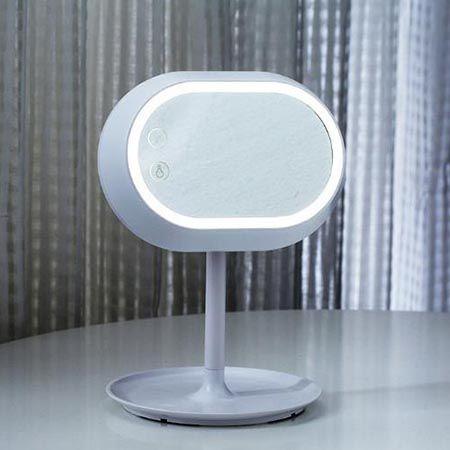 Зеркало - настольная лампа с сенсорным экраном 2 в1