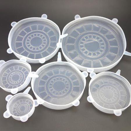 Силиконовые крышки разных размеров, набор 6 шт (от -40 до +230℃)