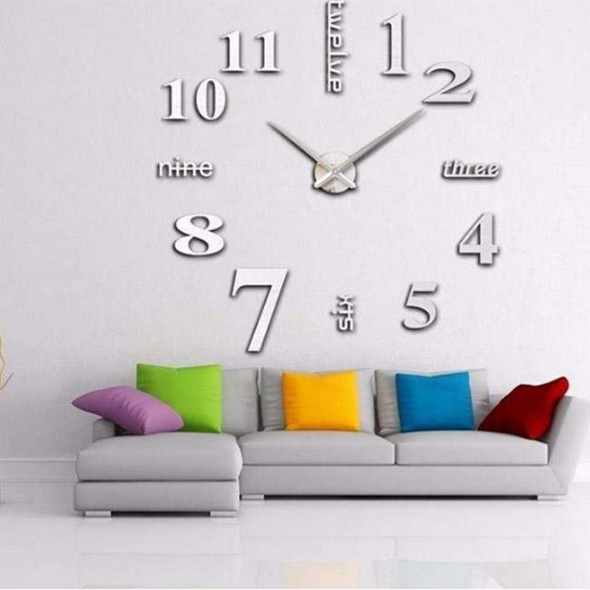 3D зеркальные настенные часы