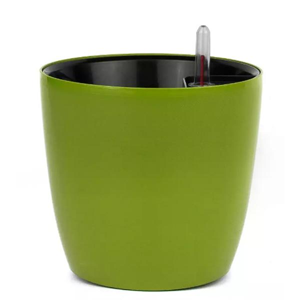 Горшок с автополивом 3,5 л зелёный