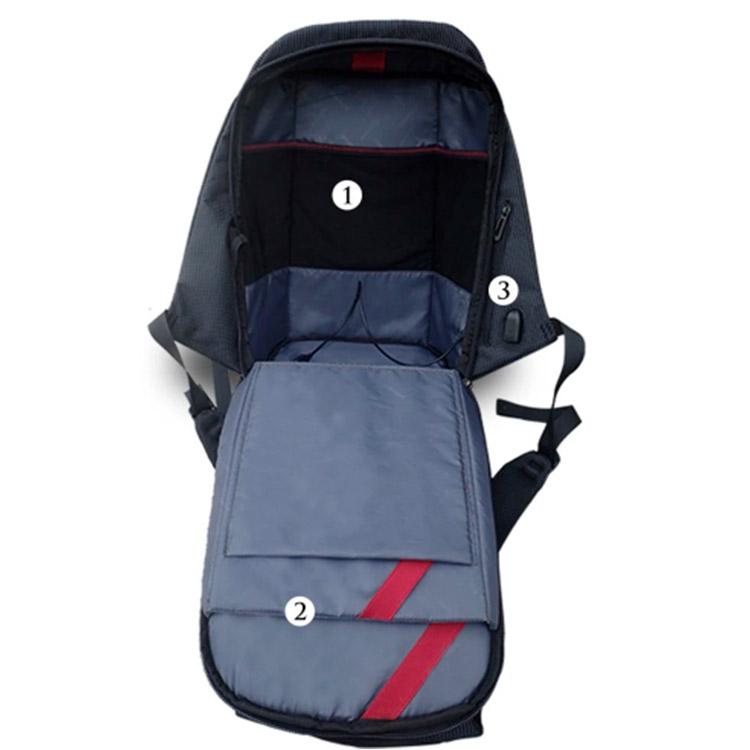 Рюкзак для ноутбука антивор с USB K9458W