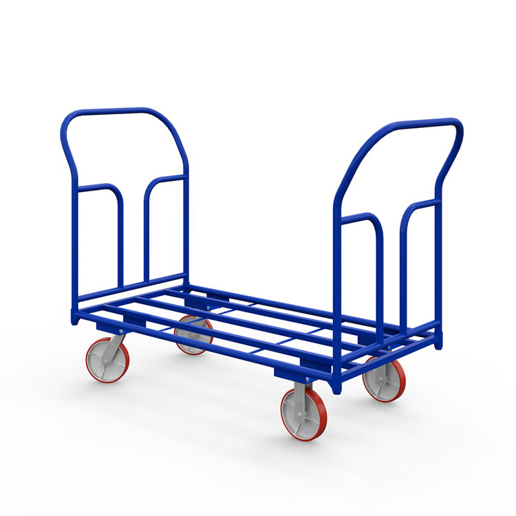 Платформенная тележка ТКД (500 кг, 1400x800 мм, колеса чугун/полиуретан 200 мм)