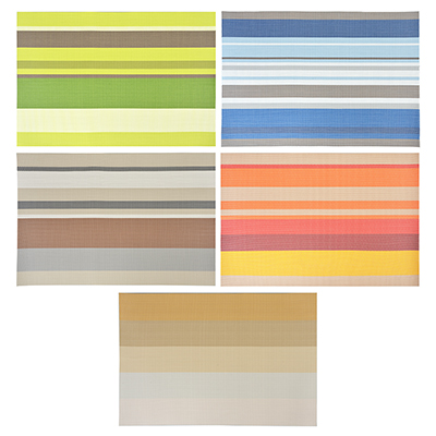 Набор салфеток 4шт сервировочных, ПВХ, 30x45см, Классика, 5 цветов