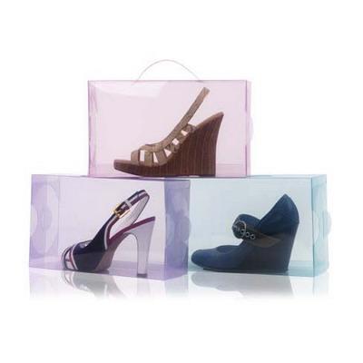 Прозрачная пластиковая коробка 5 литров для женской обуви