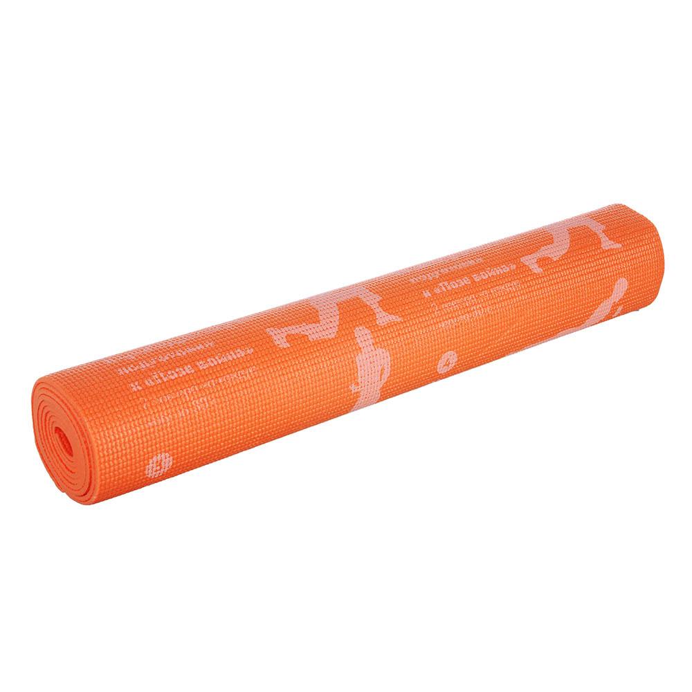 SILAPRO Коврик для йоги, ПВХ, 61х173см, толщина 4мм, Асаны, 4 цвета