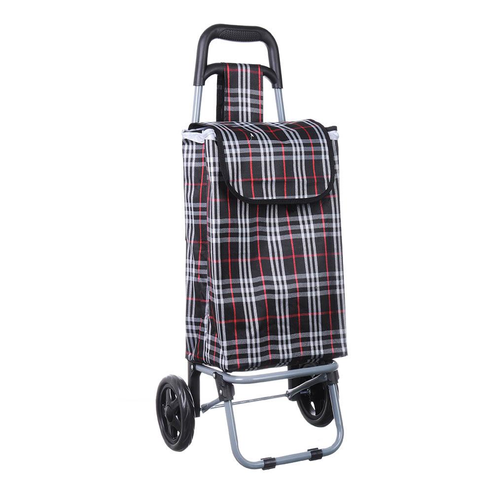 Тележка + сумка, грузоподъемность до 30кг, брезент, ЭВА, 36х28х86см, колесо d15см, ZZ 402-7